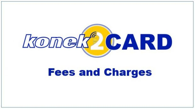 konek2CARD Fees and Charges