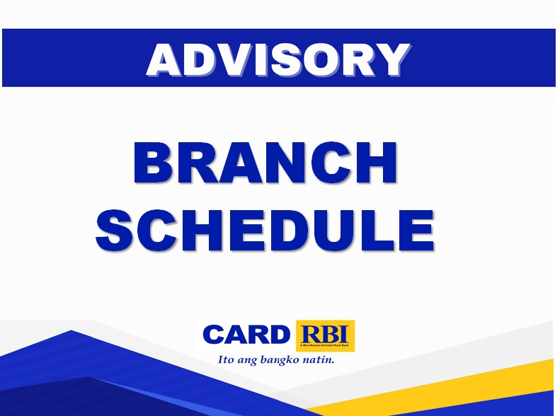 Shortened banking hours for selected branches and BLUs (March 29-31, 2021)