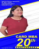 CARD MBA 20th Anniversary