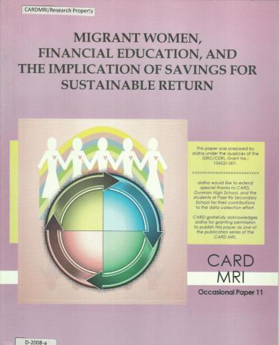 Migrant Women, Financial Education, and the Implication of Savings for Sustainable Return