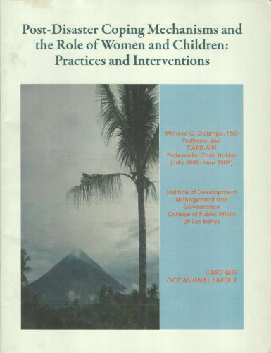 Post-Disaster Coping Mechanisms and the Role of Women and Children Practices and Interventions