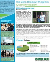 Zero Dropout Program Quarterly Report April to June 2013